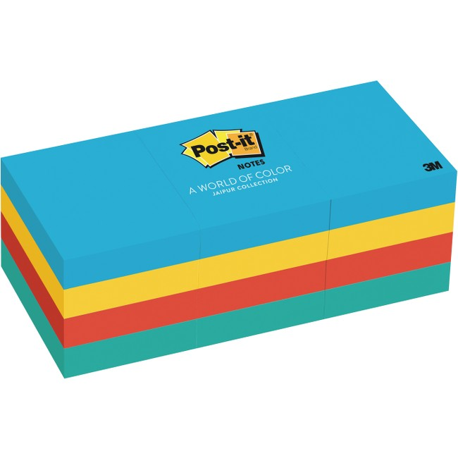 "Post-it® Notes, 1.5"" x 2"" Jaipur Collection"