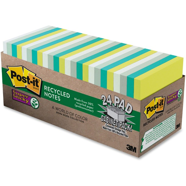 Post-it® Super Sticky Bora Bora Notes Cabinet Pk
