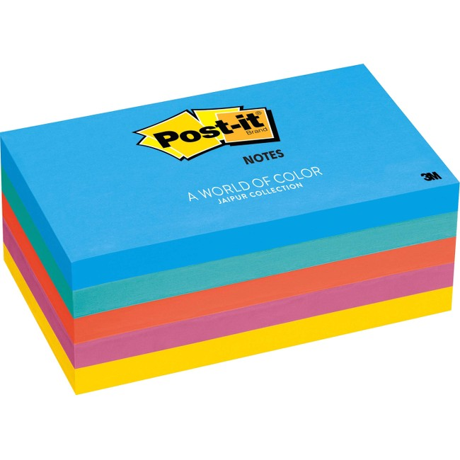 "Post-it® Notes, 3"" x 5"" Jaipur Collection"