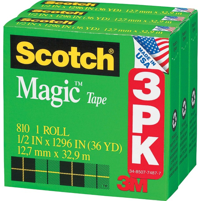 Scotch® Magic™ Tape, 1/2