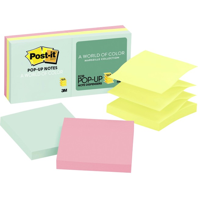 Post-it® Pop-up Notes - Marseille Color Collection