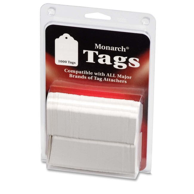 Monarch Stringless White Tags