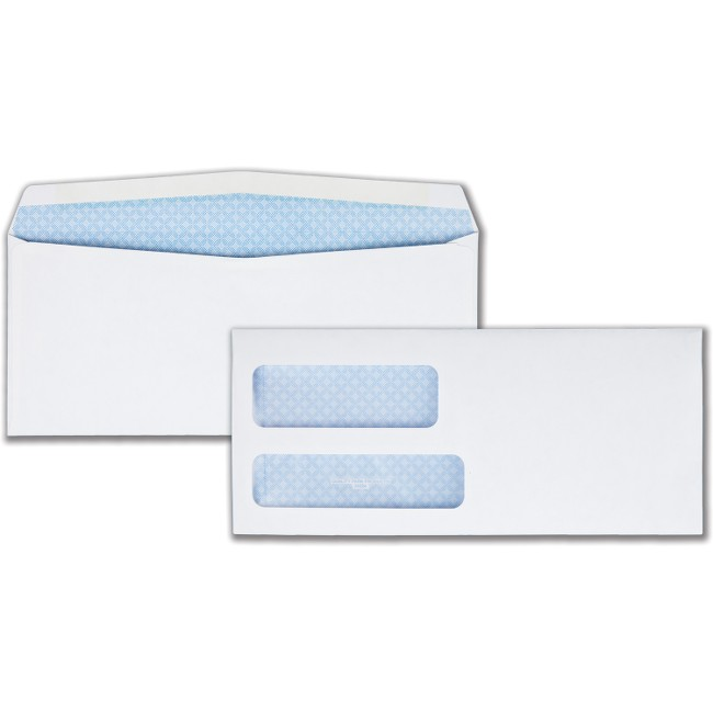 Quality Park Double Window Gum Closure Envelopes