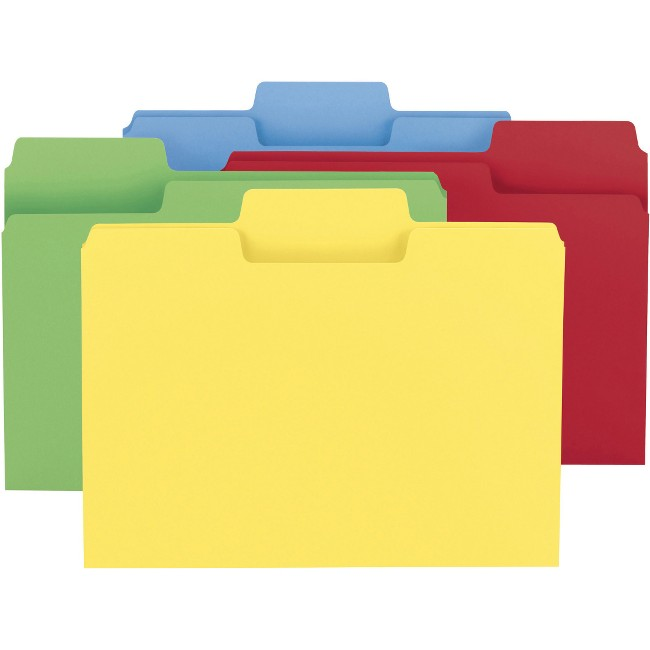 Smead SuperTab 1/3 Tab Cut Letter Recycled Top Tab File Folder