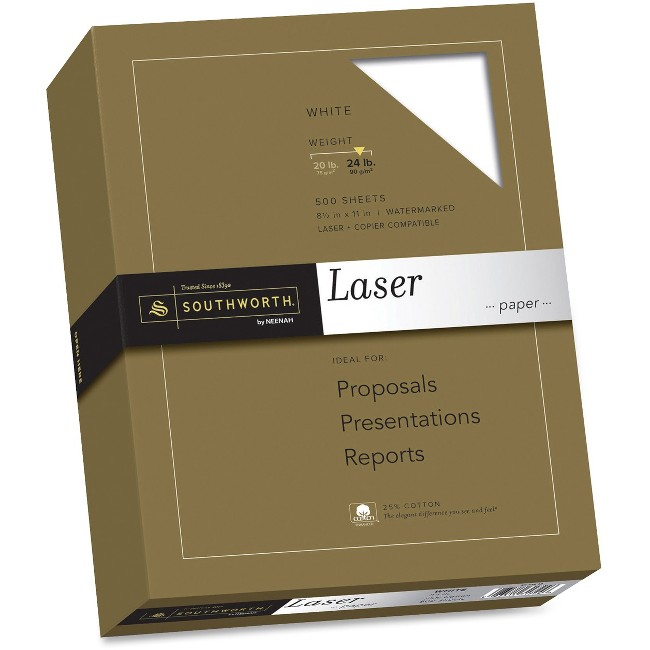 Southworth 31-724-10 Laser Laser Paper - 25% Recycled