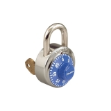 Combinatin Padlock with Control Key Feature, Blue, Dozen