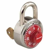 Combinatin Padlock with Control Key Feature, Red, Dozen