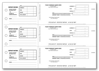 Deposit Tickets - 3-On-A-Page