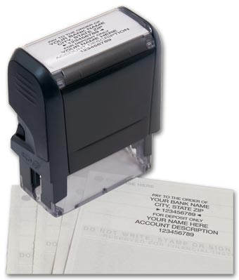 Endorsement Stamp - Self-Inking, Popular Layout