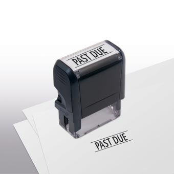 Past Due Stamp - Self-Inking