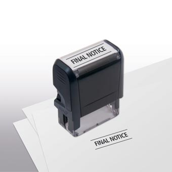 Final Notice Stamp - Self-Inking