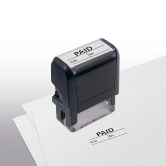Paid w/ boxes Stamp - Self-Inking
