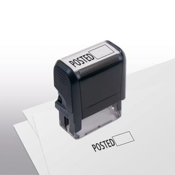 Posted w/ Open Box Stamp - Self-Inking