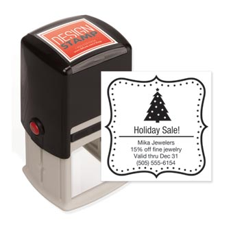 Holiday Dots Design Stamp - Self-Inking