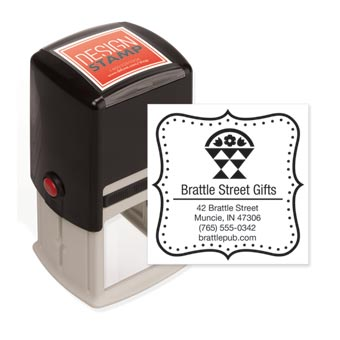 Dashing Dots Design Stamp - Self-Inking