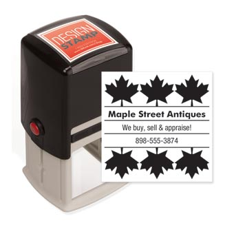 Autumn Leaves Design Stamp - Self-Inking