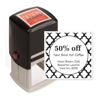 Quatrefoil Design Stamp - Self-Inking
