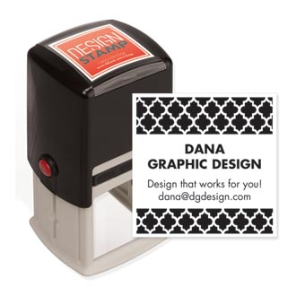 Bold Quatrefoil Design Stamp - Self-Inking