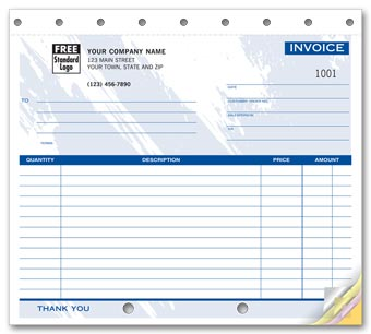 Invoices - Small Lined 2-part