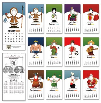 2015 Fun Face Wall Calendar