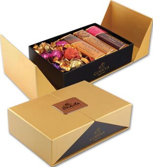 Golden Box of Godiva Sweets