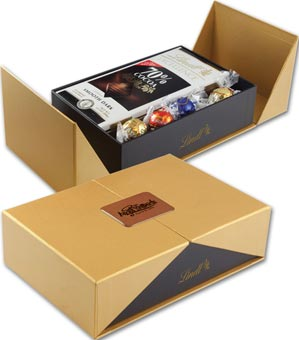 Golden Box of Lindt Sweets