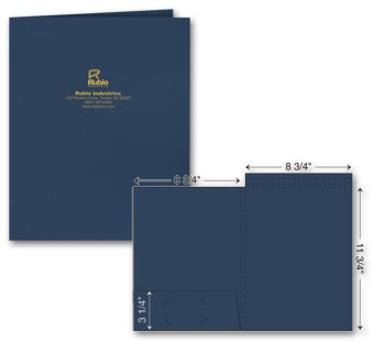 Top Tab Presentation Folder - Foil Imprint