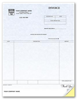 Invoices, Laser, Parchment 2-part