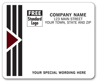 Park Avenue Mailing Labels, Laser, w/ Black/Burgundy
