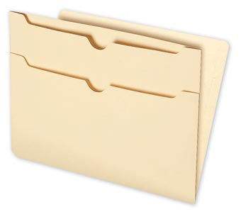 End-Tab Folders with Two Pockets on Back, 11pt
