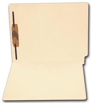End Tab Full Cut Manila Folder, 11 pt, One Fastener
