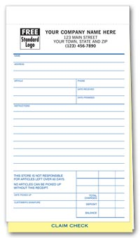Repair Order Forms - Jewelry Repair Orders with Poly Bag 3-part