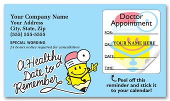 Medical Appointment Cards, Peel and Stick, A Healthy Date
