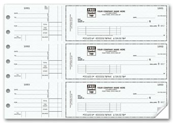 3-On-A-Page Business Size Checks, with Side-Tear Vouchers