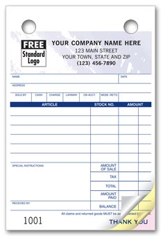 Register Forms - 4 x 6 - Colored forms for Jewelers 2-part