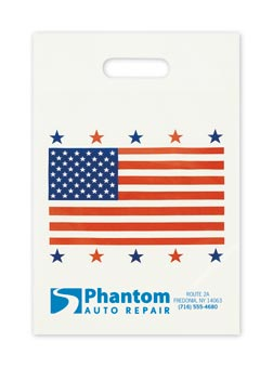 Small American Flag Take Home Bags