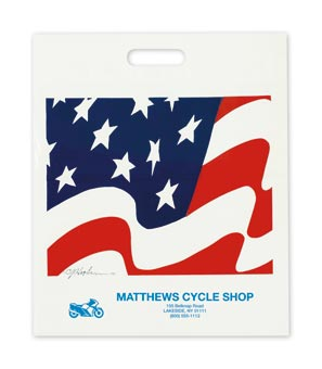 Medium American Flag Take Home Bags