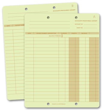 One-Write Ledger Cards