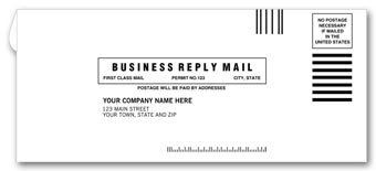 #9 Business Reply Envelope