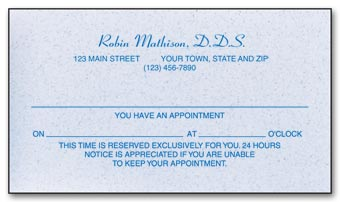 1 Sided Appointment Business Cards, Environment Stock