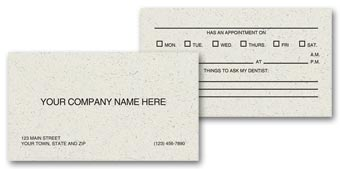 Two Sided Appointment Business Cards, Environment Stock