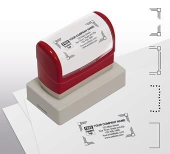 Name & Address Stamp, Large - Pre-Inked