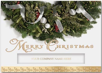 Glittering Wreath Christmas Cards
