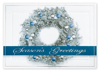Sterling Wreath Holiday Cards