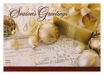 Gold Standard Accountant Holiday Cards