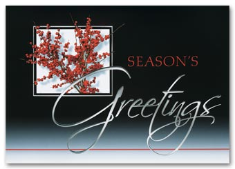 Sophistication in Red Holiday Cards
