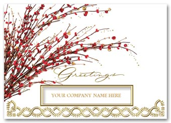 Red Berry Radiance Holiday Cards
