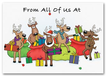 Jolly Reindeer Holiday Card