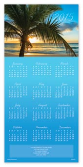 Tropic Sunset Calendar Cards