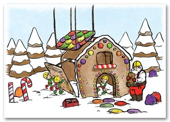 Gingerbread House Contractor/Builder Holiday Card
